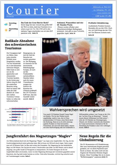 Globalisierung Zeitung Courier