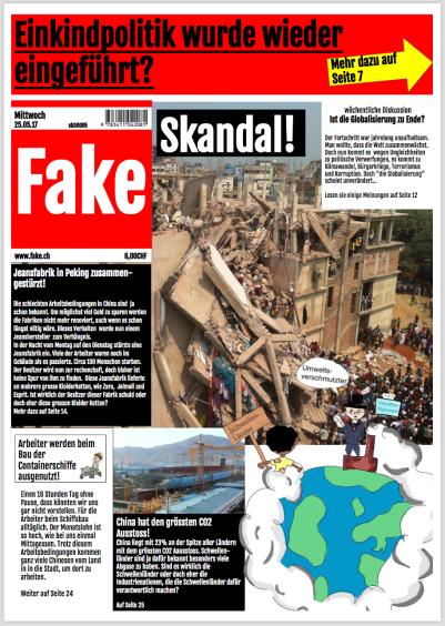 Globalisierung Zeitung Fake